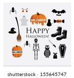 halloween siluettes | Shutterstock .eps vector #155645747
