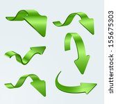 3d green arrows | Shutterstock .eps vector #155675303