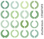 vector collection  laurel... | Shutterstock .eps vector #155687693