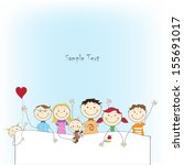 vector background with funny... | Shutterstock .eps vector #155691017