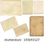 old papers set isolated on... | Shutterstock . vector #155692127