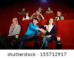 group of young people watching... | Shutterstock . vector #155712917
