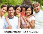 muti generation indian family...   Shutterstock . vector #155717357