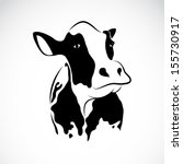 Vector Image Of An Cow On Whit...