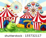 illustration of a carnival with ... | Shutterstock .eps vector #155732117