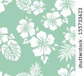 hawaiian aloha shirt seamless... | Shutterstock .eps vector #155733623