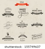 christmas set   labels  emblems ... | Shutterstock .eps vector #155749637