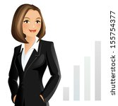 businesswoman | Shutterstock .eps vector #155754377
