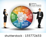 6 sided business wheel chart design template for presentation purposes