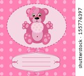 baby girl greeting card  | Shutterstock . vector #155776397
