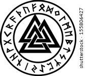 valknut  rune circle  odin... | Shutterstock .eps vector #155806427