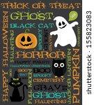 halloween card design. vector... | Shutterstock .eps vector #155823083