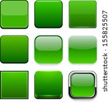 set of blank green square... | Shutterstock .eps vector #155825507