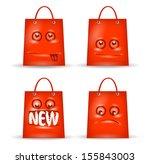 funny shopping. vector format | Shutterstock .eps vector #155843003