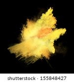 Yellow Powder Isolated On Blac...