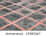 red criss cross lines painted... | Shutterstock . vector #15585367