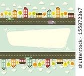 paper urban landscape. vector... | Shutterstock .eps vector #155872367