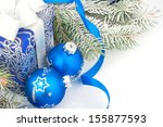 Christmas Accessories In Blue ...