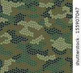 seamless camouflage pattern... | Shutterstock .eps vector #155907047