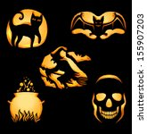 set of original shapes for jack ... | Shutterstock .eps vector #155907203