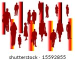 red people | Shutterstock .eps vector #15592855