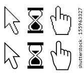 vector pixel cursors | Shutterstock .eps vector #155963327