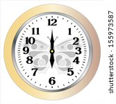 wall clocks isolation on white... | Shutterstock .eps vector #155973587