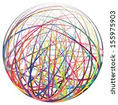 complex ball made of many... | Shutterstock .eps vector #155975903