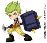 warrior kid | Shutterstock . vector #155994617