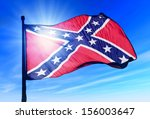 Confederate Flag Waving On The...