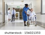 senior female woman patient in... | Shutterstock . vector #156021353
