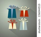retro vector present  gift boxes | Shutterstock .eps vector #156044513