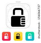 lock with password icon. vector ...