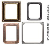 Empty Metal Frames  Isolated O...