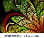 Colorful Leafy Fractal Plant ...