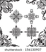 baroque set of corners | Shutterstock . vector #156130907