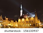 tallinn central town hall...   Shutterstock . vector #156133937