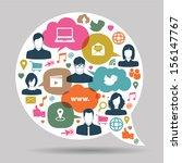 speech bubbles with social... | Shutterstock .eps vector #156147767
