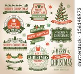 christmas collection of design... | Shutterstock .eps vector #156148973