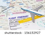 trip to middle east with plane... | Shutterstock . vector #156152927