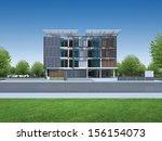 3d render of modern building | Shutterstock . vector #156154073