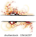 abstract floral background with ...   Shutterstock .eps vector #15616237
