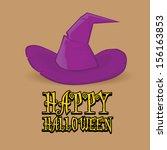 vector halloween design...   Shutterstock .eps vector #156163853