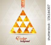 triangle pattern background ... | Shutterstock .eps vector #156166307
