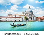 gondola on canal grande with...