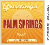 vintage touristic greeting card ...   Shutterstock .eps vector #156203027