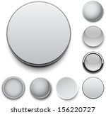 set of blank grey round buttons ... | Shutterstock .eps vector #156220727