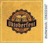 retro styled label of beer.... | Shutterstock .eps vector #156222167