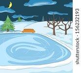 outdoor skating rink | Shutterstock .eps vector #156232193