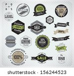 premium quality  guarantee and... | Shutterstock .eps vector #156244523